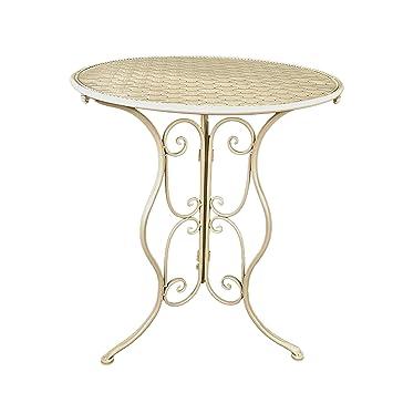 Prime Slate Rose Chester Cream Wrought Iron Table Amazon Co Uk Beatyapartments Chair Design Images Beatyapartmentscom