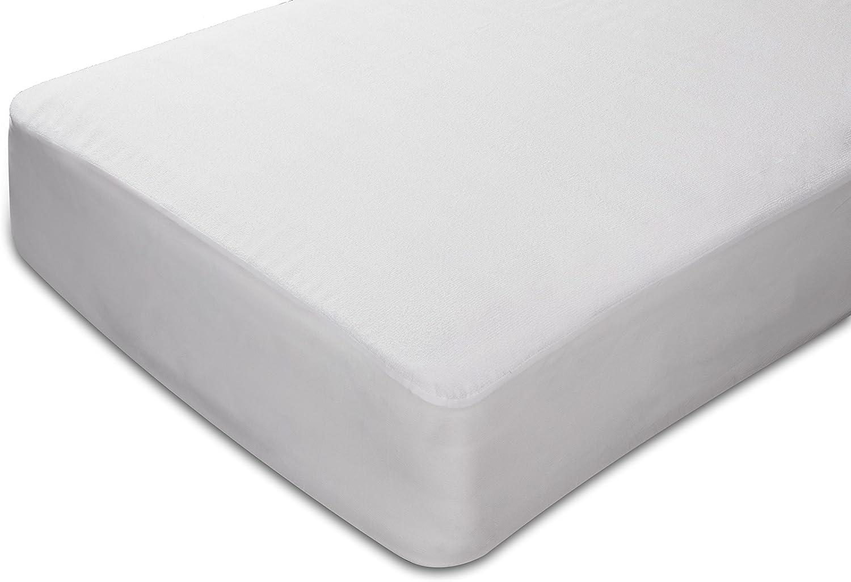 Sunlay - Protector de colchón rizo, 100%algodón, impermeable ...