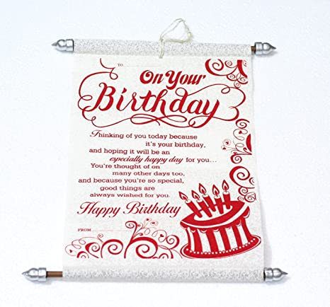 Buy Lilone On Your Birthday Quoted Birthday Scroll Message