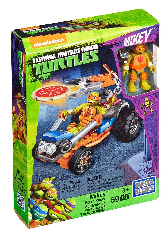 Mega Bloks DMX38 Vehículo Lanzador de Pizza de Michelangelo ...