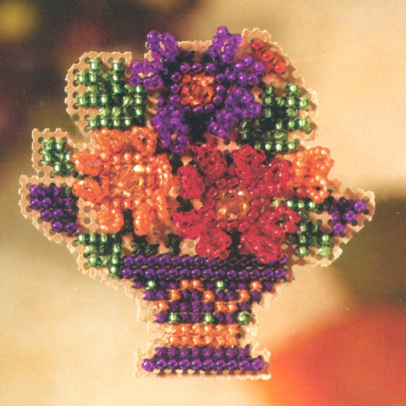 Mum Bouquet Beaded Counted Cross Stitch Ornament Kit Mill Hill 2007 Autumn Harvest MH18-7202 by Mill Hill B003OOD67I