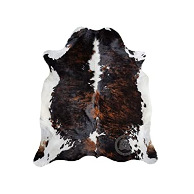 Sunshine Cowhides Brindle Dark Tricolor Cowhide Rug XL Approx Size 6ft x 8ft 180cm x 240cm from