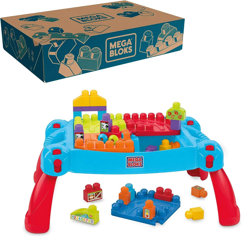 MEGA BLOKS CNM12   Bau  und Spieltisch, 12 Bausteine, ab 12 Monaten  [Exklusiv bei Amazon]