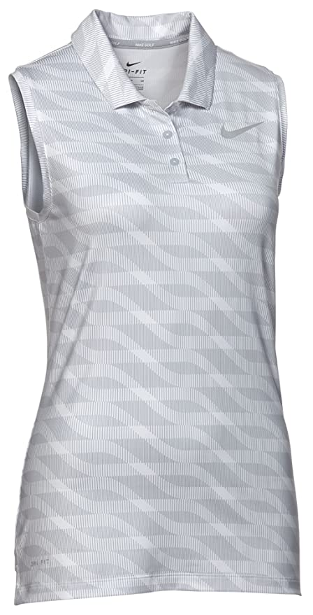 NIKE Womens Dry Sleeveless Golf Polo Sunset Pulse: Amazon.es ...