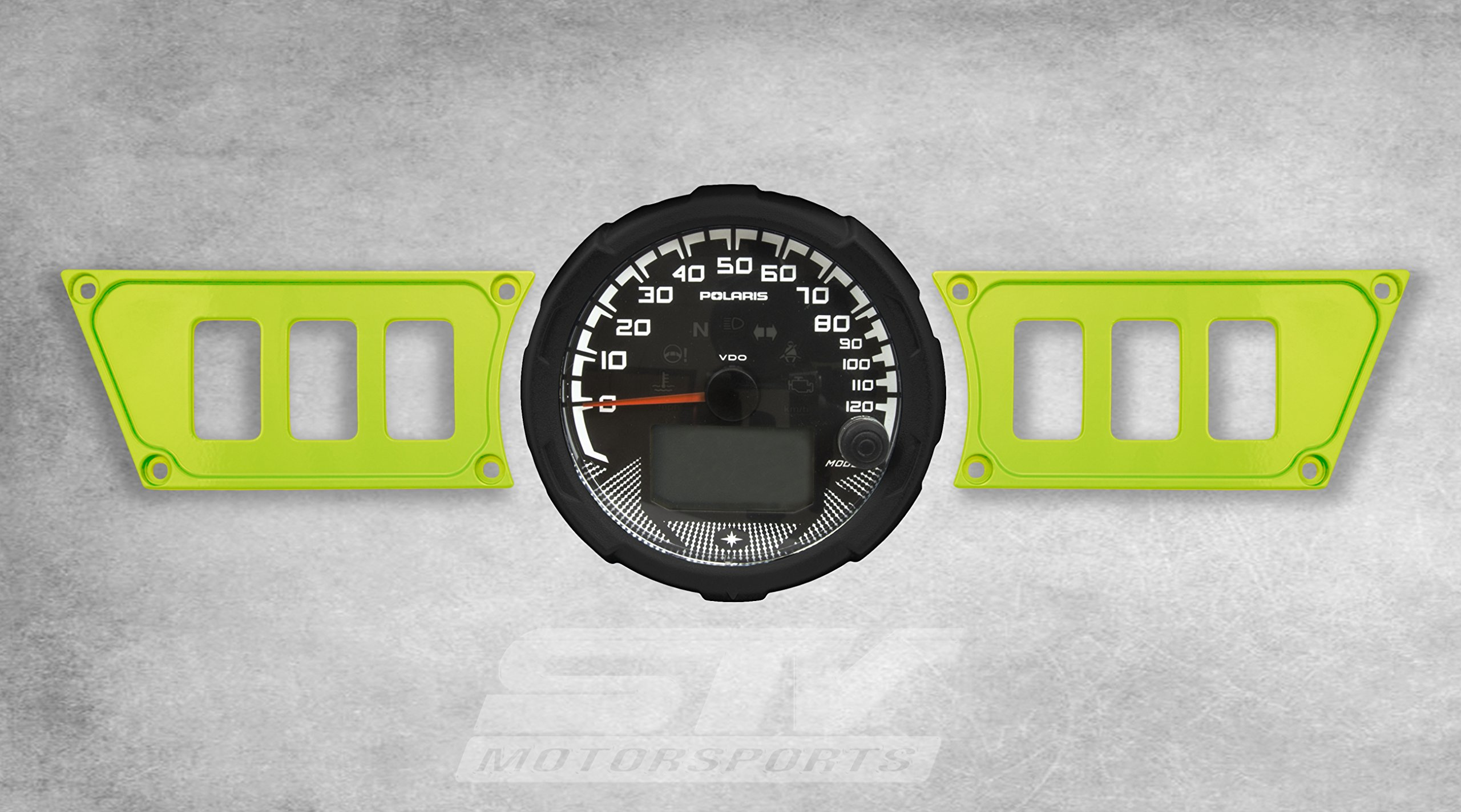 STV Motorsports Custom Aluminum Dash Panel for Polaris RZR XP 1000 with 6 Switch Openings (no switches included) (Lime)