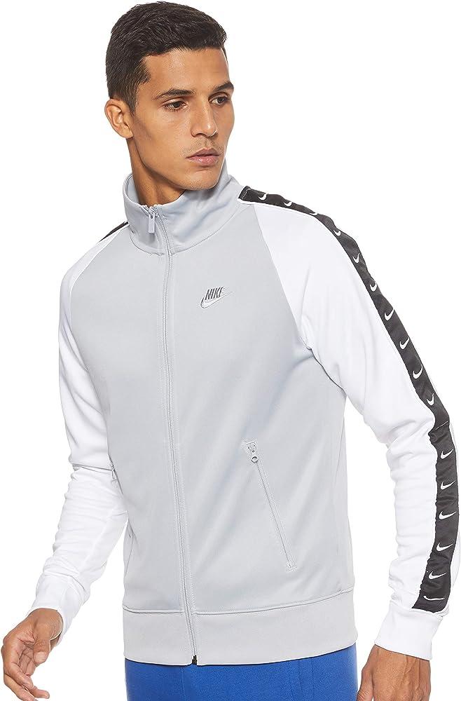 Nike M NSW Hbr Jkt PK Stmt Chaqueta, Hombre, White/Wolf Grey, XS ...