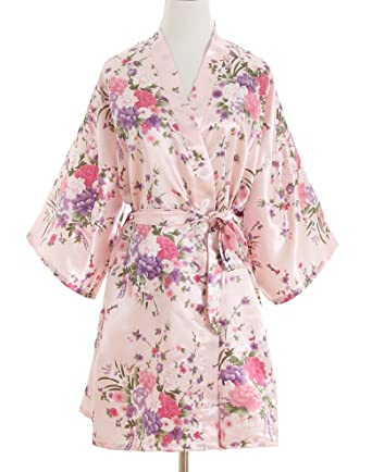 cae8739a6012 Cherry Blossoms Floral Kimono Robe Silk Nightgown Bridesmaid Robe  Wedding  Robe
