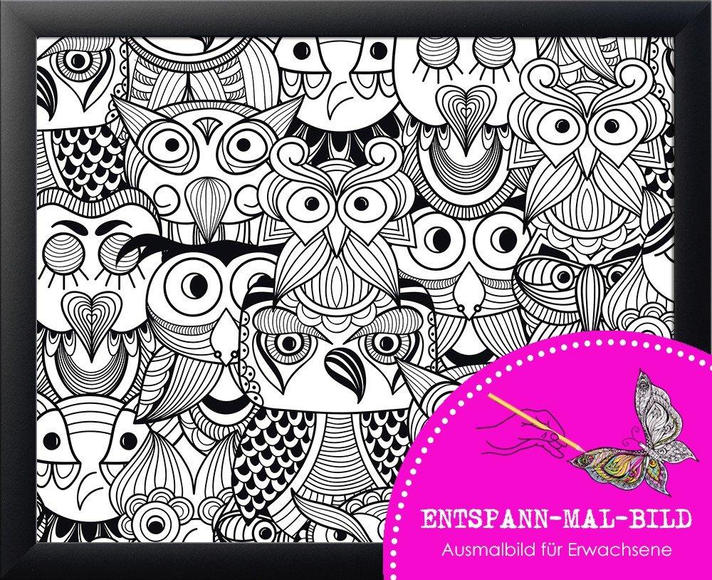 Amazon.de: artissimo, Neuheit, Entspann-Mal-Bild gerahmt, 56x46cm ...