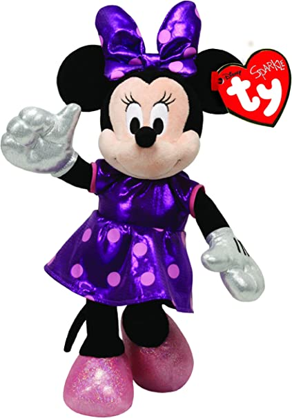"""TY Disney Minnie Mouse Sparkle Plush Toy Small 8/"""" NEW FREE SHIPPING"""