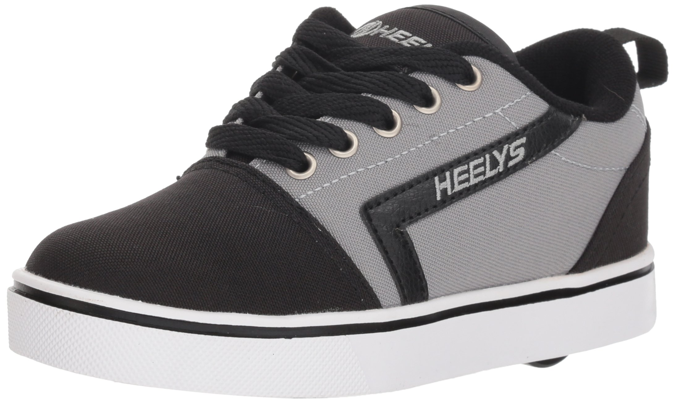 Heelys Boys' GR8 Pro Tennis Shoe, Black/Grey 1 Medium US Big Kid
