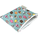 Itzy Ritzy Snack Happens Reusable Snack and Everything Bag, Ice Cream Social