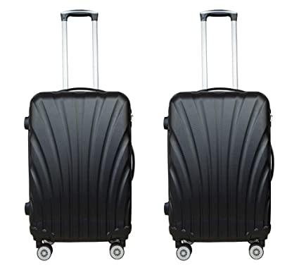 3G Combat Series 8018 Unisex ABS Set of 2 Combo 55 cm/20 Inch Red Hard Sided Luggage Trolley Cabin Size Suitcase