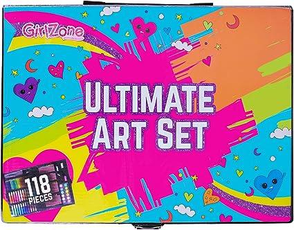 Amazon.com: Regalos para niñas: 114 piezas de juego de arte ...