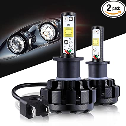 LED Headlight Bulbs H3 CREE Chips All-in-One Conversion Kit,12000 Lumen