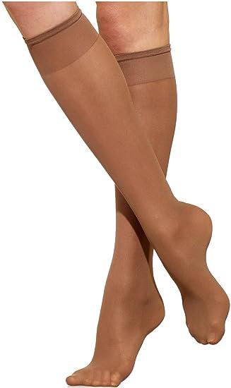13d7afcba Amazon.com  Silkies Sheer ReNu Support Knee Hi s (2 pair pack)  Clothing
