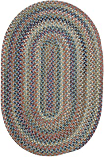 product image for Colonial Mills Floor Decorative Cedar Cove Light Blue Area Rug Oval 3'x5'