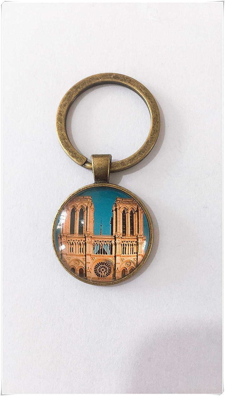 heng yuan tian cheng Notre Dame Llavero con diseño de ...
