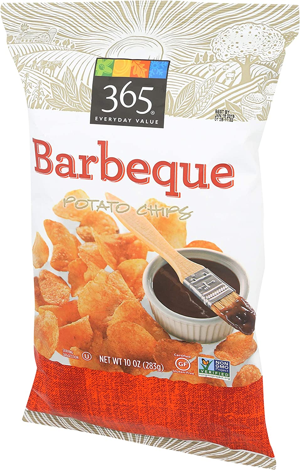 365 Everyday Value, Mesquite Barbecue Flavored Potato Chips, 10 oz