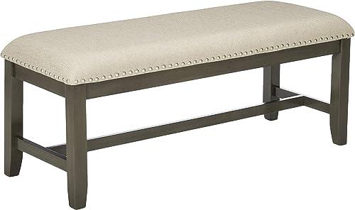 Standard Furniture Omaha Bench 48 W x 17 D x 19 H Grey