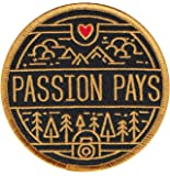 Passion Pays Embroidered Sew or Iron-on Patch (Photo)