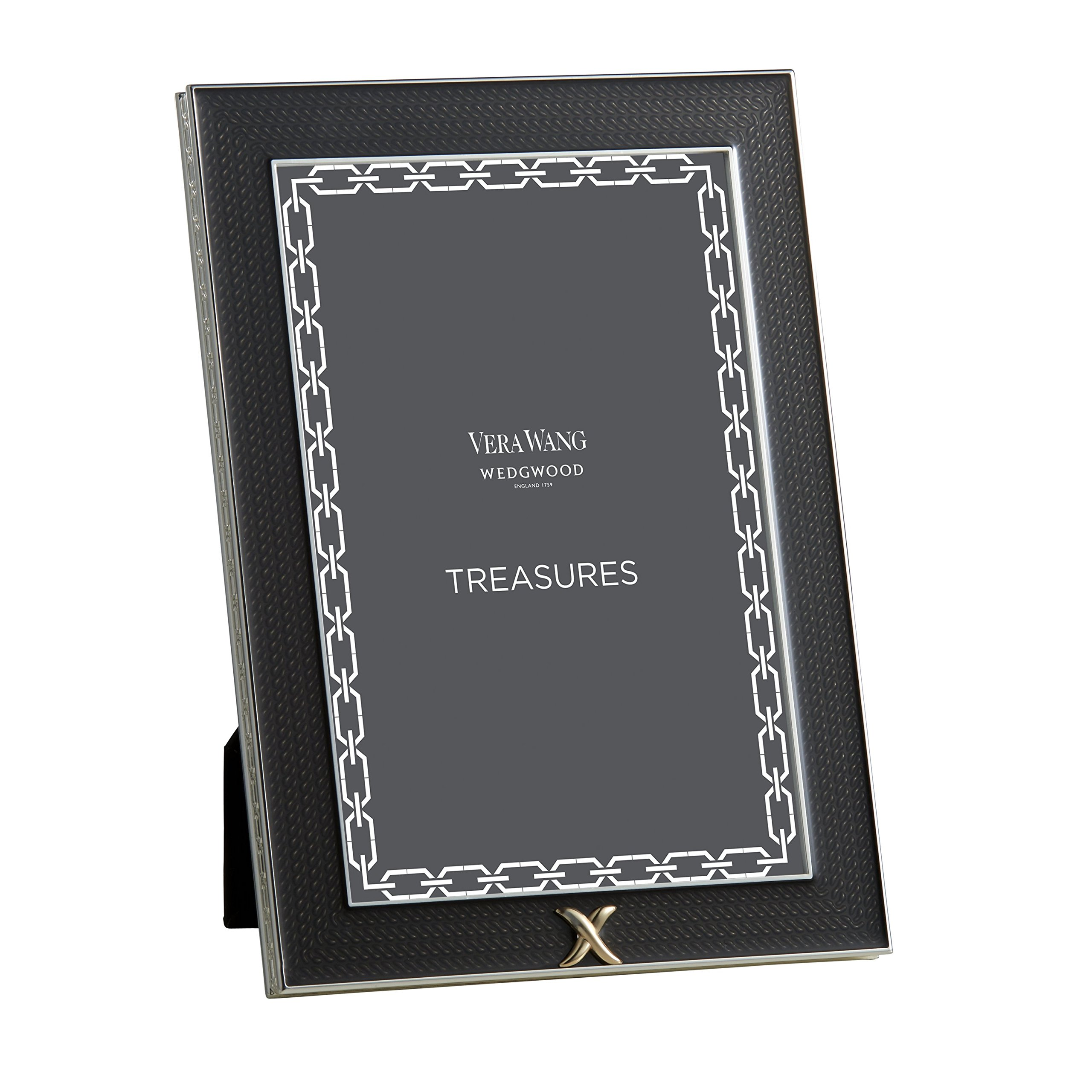 Wedgwood Treasures with Love Noir X Treasure Frame, 4 by 6-Inch