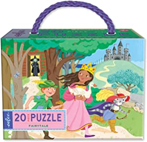 eeBoo Fairytale Puzzle for Kids, 20 Pieces, Toddlers Age 3 4 5 Years Old