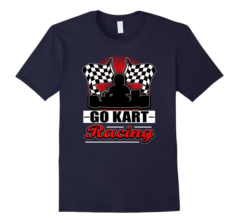 Go Kart Racing Funny Red Silhouette T-Shirt-TJ