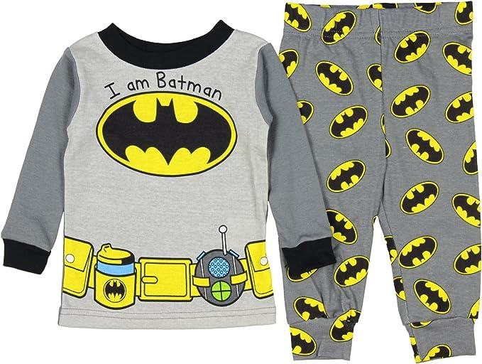 DC Comics Little Boys Toddler Batman 2 Piece Pajama Set