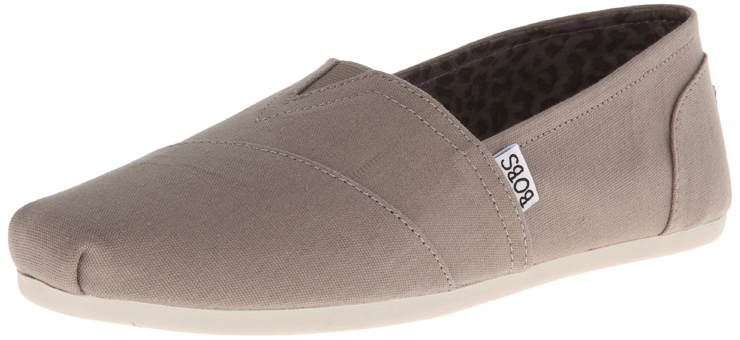 Skechers BOBS from Women's Plush Peace and Love Flat,Taupe,5 M US