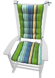porch rocker cushions westport cabana stripe blue extralarge indoor outdoor