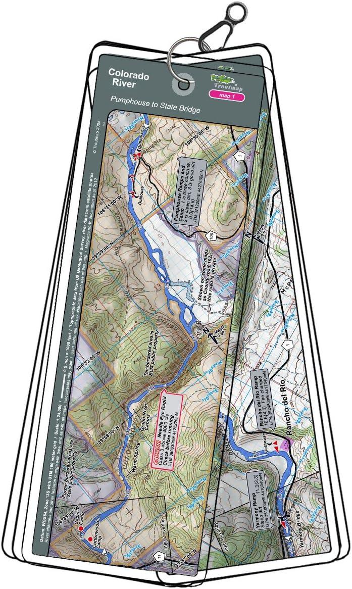 Troutmap Colorado River Map Set - Colorado, Pumphouse to Burns