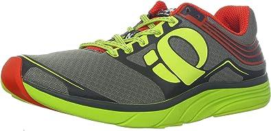 Pearl iZUMi E:Motion Road N 2 - Zapatillas de running para hombre, Rojo (Cherry Tomato/Lime), 45 EU: Amazon.es: Zapatos y complementos