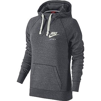 Nike Damen Kapuzenpullover Gym Vintage Hoodie, Grau (Grey   White), XS 7f6876ca86