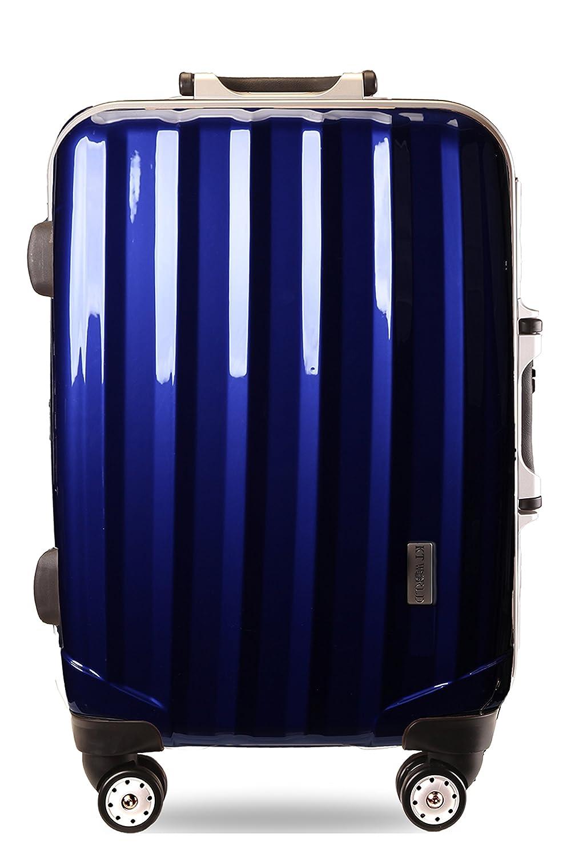スーツケースTSAロック搭載 4輪 ダブルキャスター フレーム開閉式 [ケーテイーワールド]KT523A S小型 ロイヤルブルー B005OSJPJA