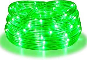 Rope Lights, 16Ft Waterproof Connectable Strip Lighting Green, Indoor Outdoor Mood Lighting for Home Christmas Holiday Garden Patio Party Decoration