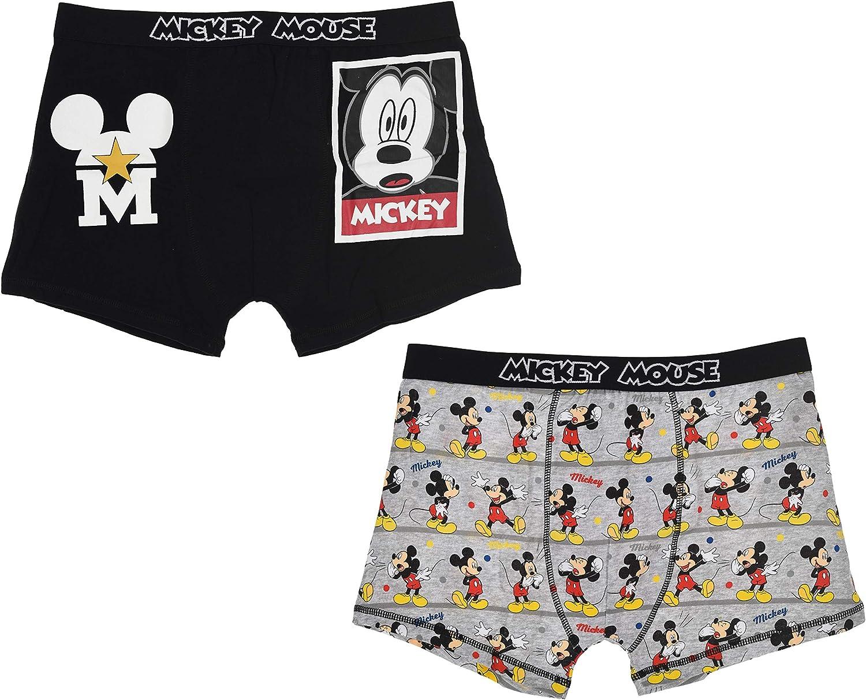 TALLA S. Disney Mickey Hombre Set Calzoncillos
