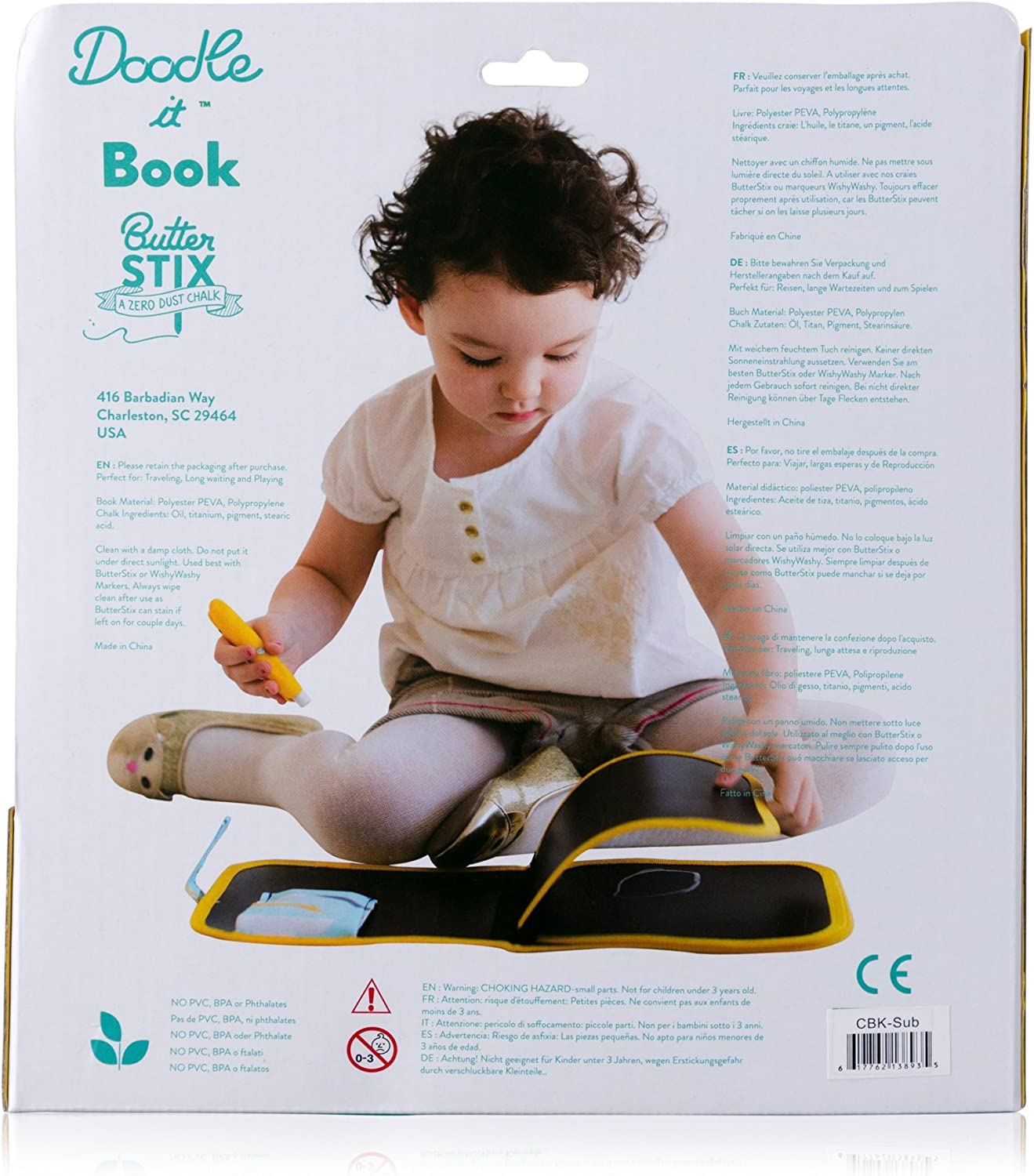Starry Night and Girls: Reusable Easy to Clean Boys Coloring /& Drawing Book with Chalk for Kids