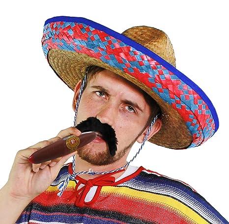 f43ee0739fb6c Sombrero mexicano de paja para hombre