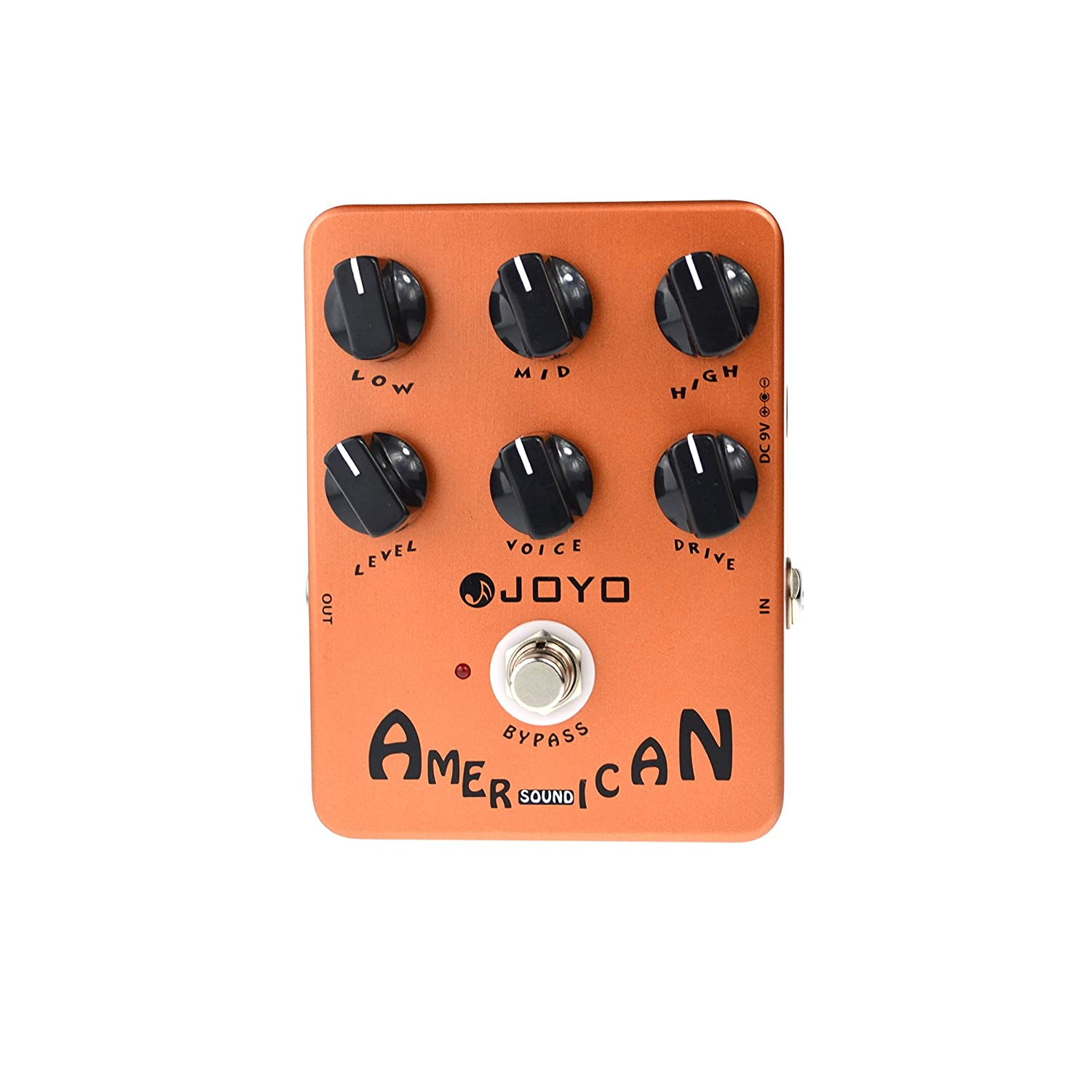 JOYO JF-14 American Sound Guitar Effect Pedal Overdrive DI Amplifier  Simulator (JF-14)