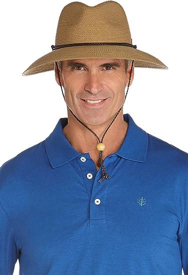 95f46d8996f29 Coolibar UPF 50+ Men s SmartStraw Surfside Hat - Sun Protective  (Small Medium- Toast) at Amazon Men s Clothing store