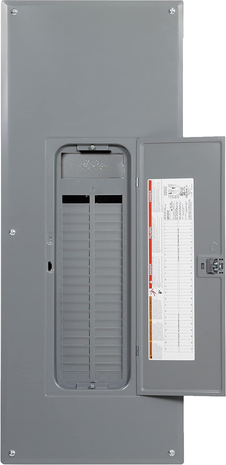 Square D by Schneider Electric QO142L225PGC QO Plug-On Neutral 225 Amp Main Lugs Space 42-Circuit Indoor Load Center with Cover and Ground Bar QO154L225PGC, Gray