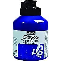 Pébéo Peinture Acryliques Pot de 500 ml Bleu Outremer Foncé