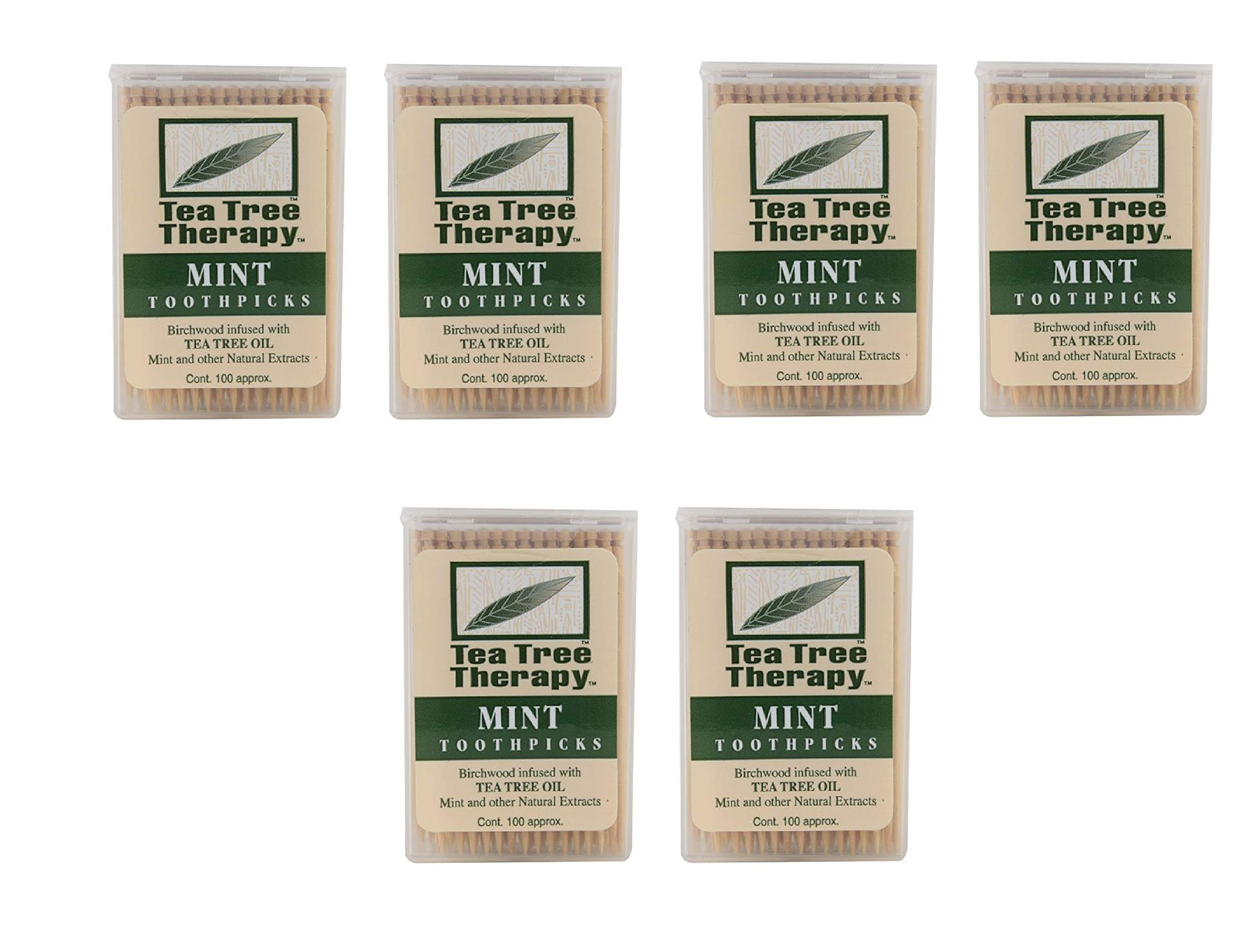Tea Tree Therapy Mint Toothpicks 200 Count (3 Pack)