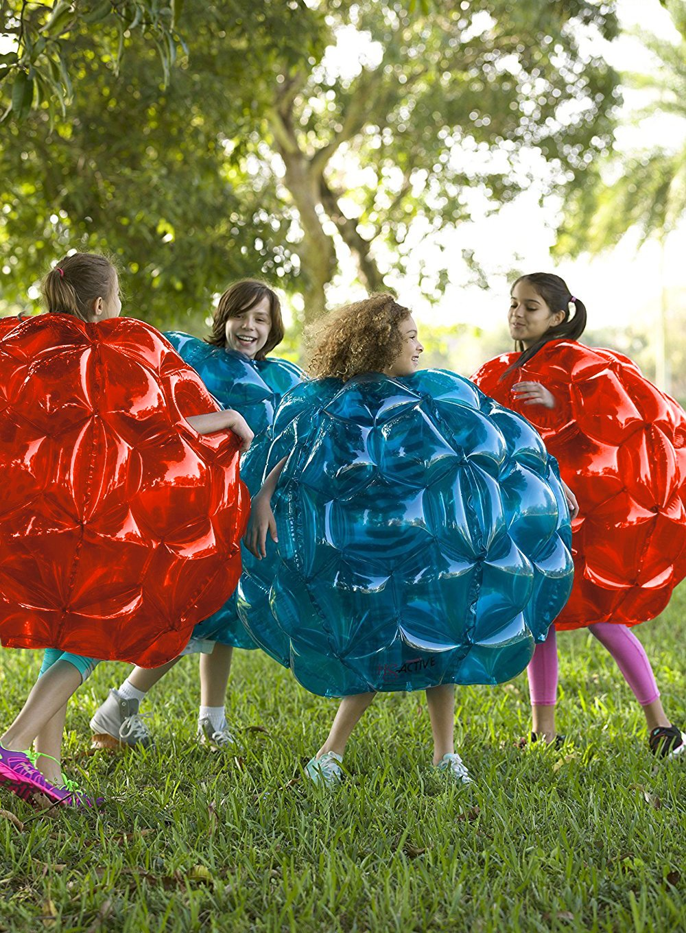Inflatable 36'' Wearable Buddy Bumper Zorb Balls Heavy Duty Durable PVC Viny Bubble Soccer Outdoor Game (2-Pack,Blue&Red)) ... by Holleyweb (Image #4)