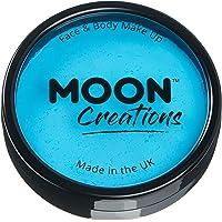 Moon Creations - Pro Face & Body Paint Cake Pots - Aqua
