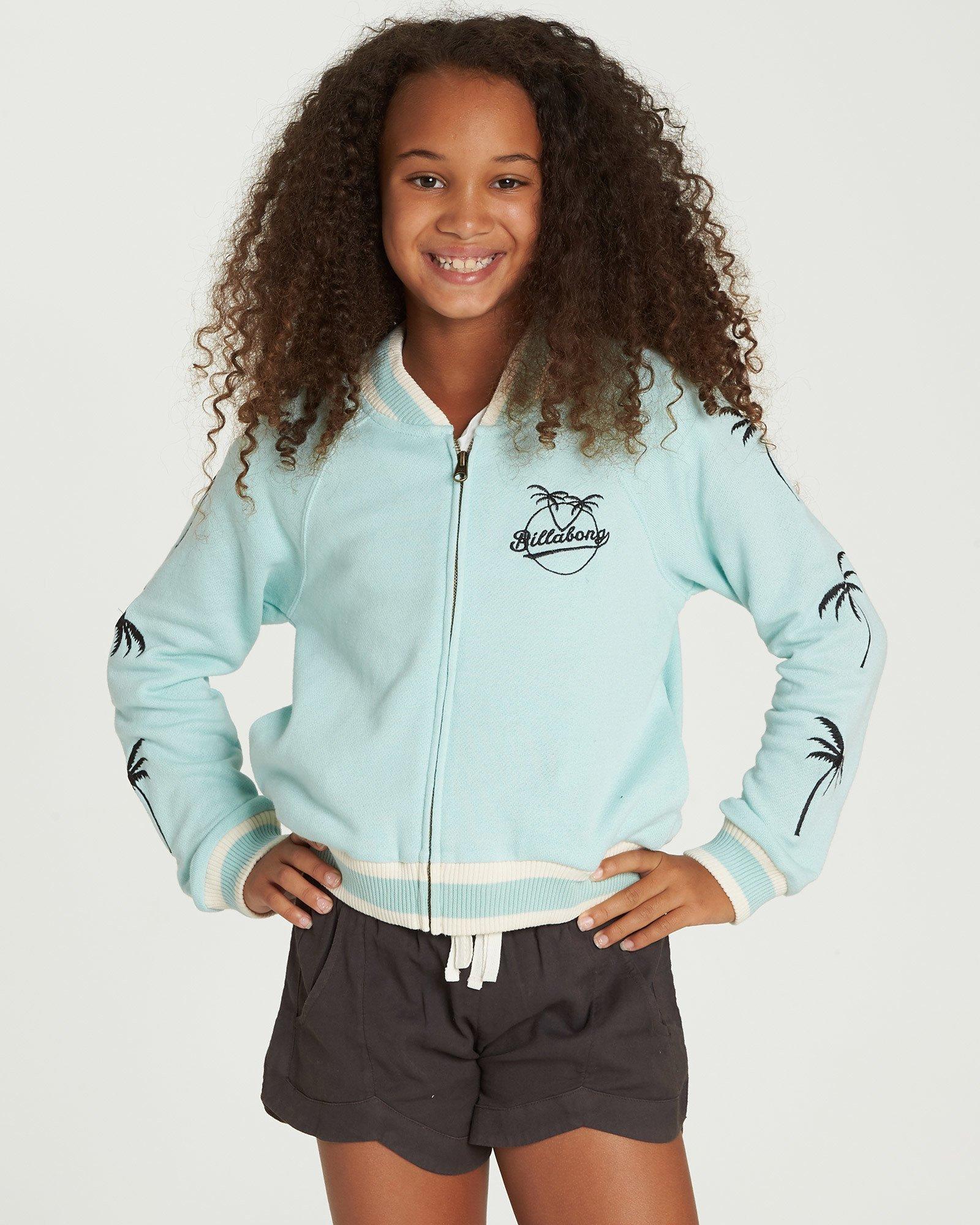 Billabong Big Girls' Rule Zip Fleece, Beach Glass, M