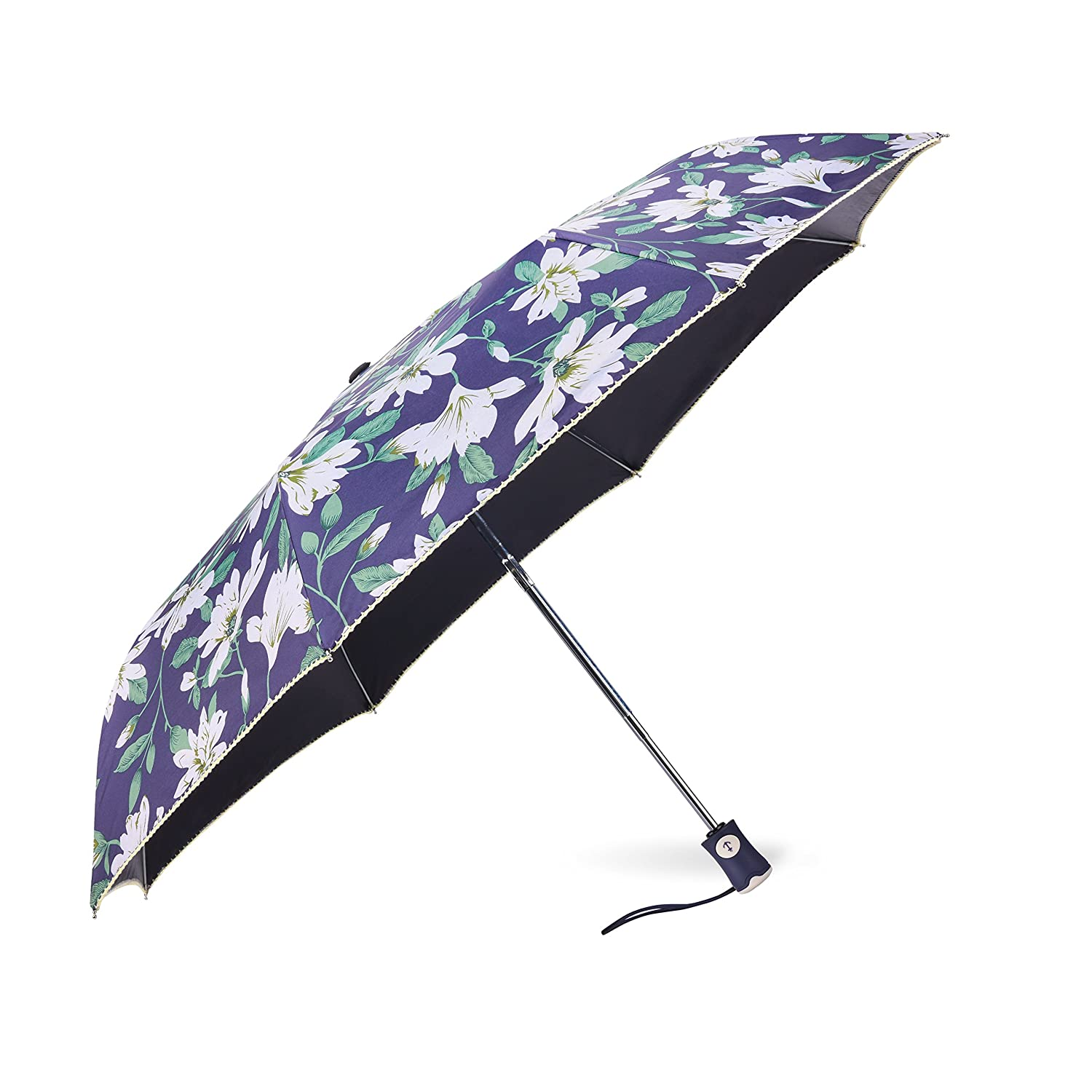 9aef315f477a Rainbrace UV Sun Umbrella Compact Folding Travel Umbrella Auto Open and  Close for Windproof, Rainproof & 99% UV Protection Parasol with Black  Anti-UV ...