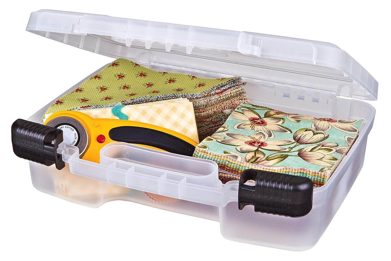 B001ELDERU ArtBin 6977AB 12 inch Quick View Carrying Deep Base, Portable Art & Craft Organizer with Handle Plastic Storage Case, Clear 81ZRcmoRkcL