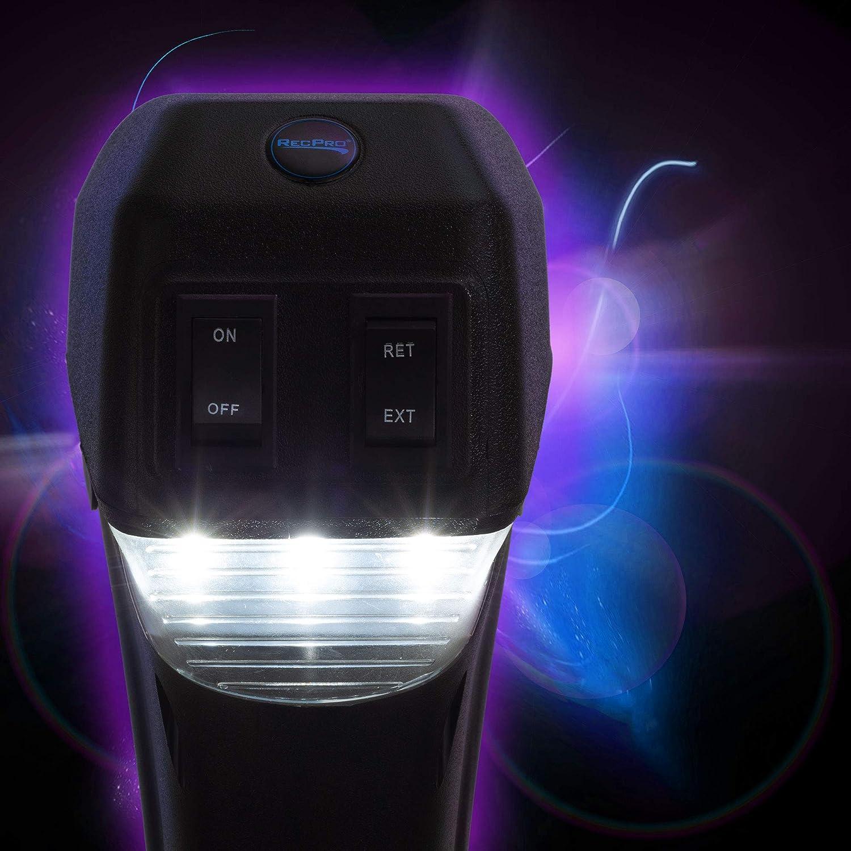 RecPro RV Electric Tongue Jack | 3500 lb Capacity | Black | Camper (Trailer) Power Jack