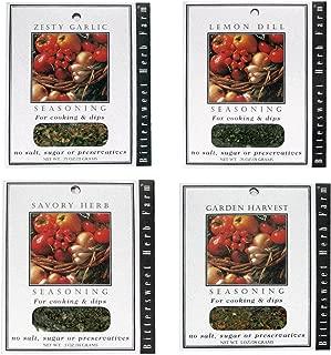 "product image for Bittersweet Herb Farm Flavor Dip Mix Variety Pack - ""Garden Harvest,"" "" Lemon Dill,"" ""Savory Herb,"" & ""Zesty Garlic"" (4 PK Bundle 1 each flavor)"